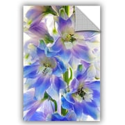 August Grove Buradale Delphinium Finery Wall Decal; 48'' H x 32'' W x 0.1'' D