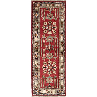 Bloomsbury Market Bernard Wool Hand-Woven Cream/Dark Copper Area Rug