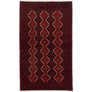 Bloomsbury Market Bilbo Casual Hand-Knotted Red Area Rug