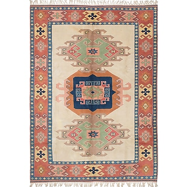 Bloomsbury Market Biddlesden Hand-Knotted Rectangle Cream Area Rug