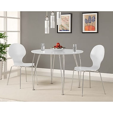 Novogratz Bentwood Round Chair (Set of 2); White