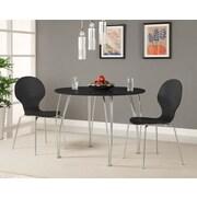 Novogratz Bentwood Round Chair (Set of 2); Black