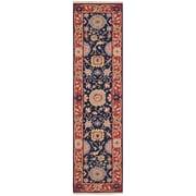 Nourison Nourmak Hand-Woven Navy/Red Area Rug; 3'10'' x 5'10''