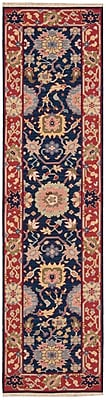 Bloomsbury Market Pierson Hand-Woven Navy/Red Area Rug; Rectangle 3'10'' x 5'10''