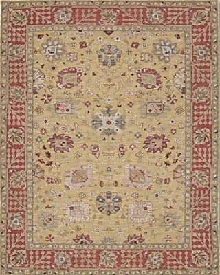 Bloomsbury Market Pierson Hand-Woven Gold/Red Area Rug; Rectangle 7'10'' x 9'10''