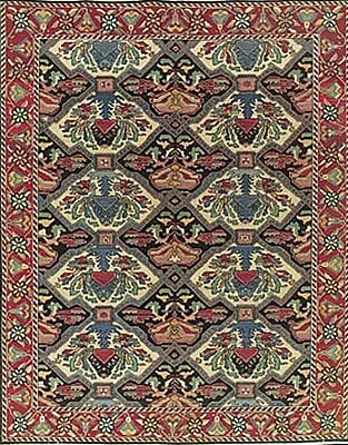 Bloomsbury Market Pierson Hand-Woven Red/Green Area Rug; 7'10'' x 9'10''