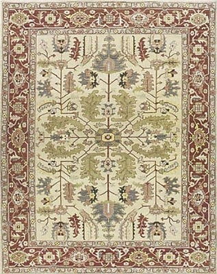 Bloomsbury Market Pierson Hand-Woven Light gold/Cinnabar Area Rug; Rectangle 12' x 18'