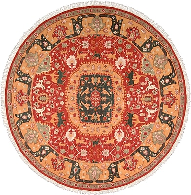 Bloomsbury Market Pierson Hand-Woven Red/Orange Area Rug; Rectangle 9'10'' x 13'10''