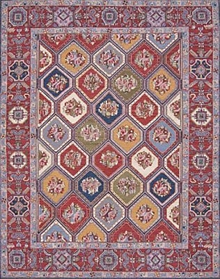 Bloomsbury Market Pierson Hand-Woven Red Area Rug; Rectangle 7'10'' x 9'10''
