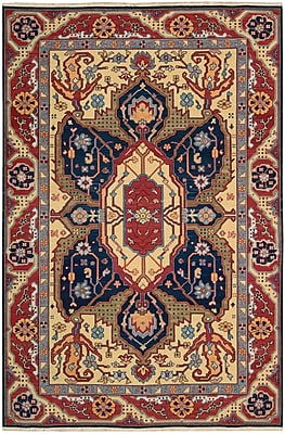 Bloomsbury Market Pierson Hand-Woven Red/Blue Area Rug; Rectangle 7'10'' x 9'10''