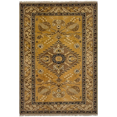Astoria Grand Ambleside Hand-Knotted Wool Light Brown Area Rug
