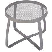 BFMSEATING Maze Lounge Side Table; Titanium silver