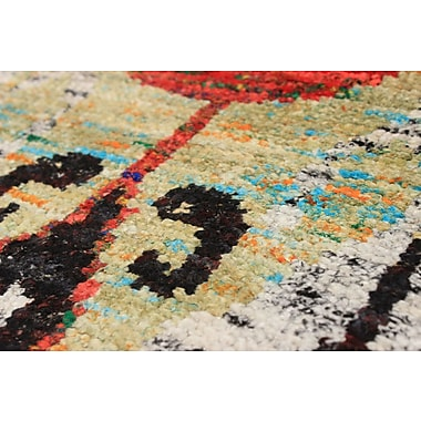 Bloomsbury Market Bert Transitional Hand-Knotted Silk Light Green/Red Area Rug
