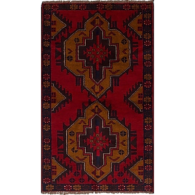 Bloomsbury Market Bethany Hand-Knotted Wool Red Area Rug