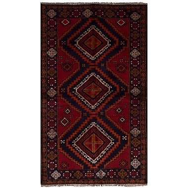 Bloomsbury Market Bethany Traditional Hand-Knotted Wool Red Area Rug