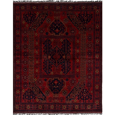 Bloomsbury Market Bilberry Traditional Hand-Knotted Wool Dark Red Area Rug