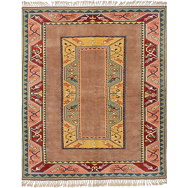 Bloomsbury Market Biddlesden Hand-Knotted Wool Tan Area Rug