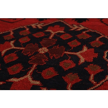 Bloomsbury Market Bilberry Traditional Hand-Knotted Wool Red Area Rug