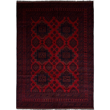 Bloomsbury Market Bilberry Hand-Knotted Wool Red Area Rug
