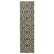 Charlton Home Beedle Carved Tile Denim Slate/Cream Area Rug