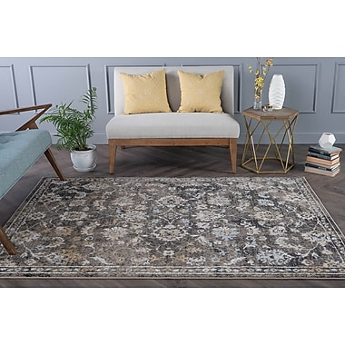 Charlton Home Clementine Traditional Taupe Area Rug; 5'3'' x 7'3''