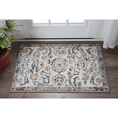 Charlton Home Clementine Transitional Cream Area Rug; 2' x 3'