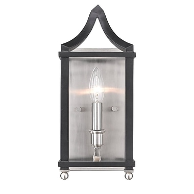Darby Home Co Bartley Transitional 1-Light Candle Sconce; Black