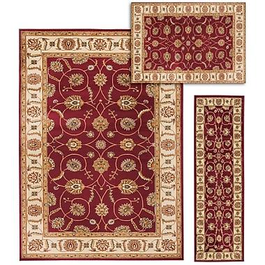 Darby Home Co Basham 3 Piece Red/Beige Rug Set