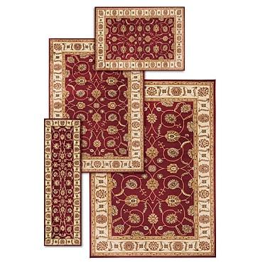 Darby Home Co Basham 4 Piece Red/Beige Rug Set