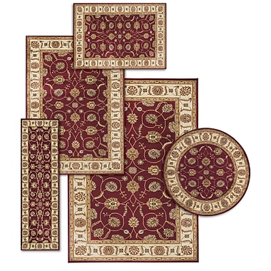 Darby Home Co Basham 5 Piece Red/Beige Rug Set