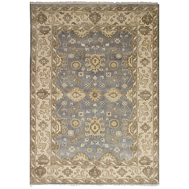 Darby Home Co Bason Hand-Knotted Wool Gray Area Rug
