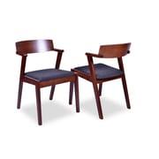 George Oliver Dedham Mid Century Modern Dining Arm Chair (Set of 2)