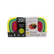 Rebrilliant 20-Piece Variety Pack Food Storage Containers Set