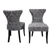 Rosdorf Park Careen Parsons Chair (Set of 2); Gray