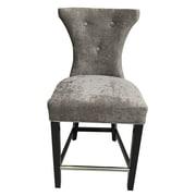Rosdorf Park Careen Tufted Platinum Feather Parsons Chair