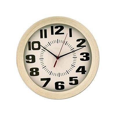 Symple Stuff Wood Grain Finish Round Wall Clock WYF078281234056