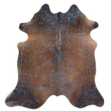Union Rustic Burgess Acid Wash on Cowhide Brown Indoor/Outdoor Area Rug
