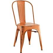 Williston Forge Ashlyn Metal Side Chair; Orange