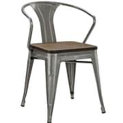 Williston Forge Ashlyn Arm Chair w/ Slat Back; Gunmetal