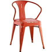 Williston Forge Ashlyn Arm Chair; Red