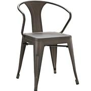 Williston Forge Ashlyn Arm Chair; Brown