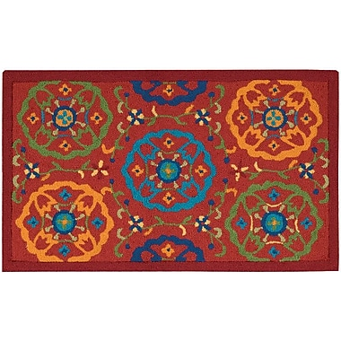 Winston Porter Shonda Hand-Tufted Red Indoor Area Rug