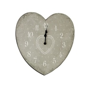 Ophelia & Co. Heart Shape Plastic Wall Clock