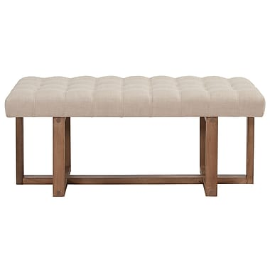 !nspire Tufted Fabric Bench
