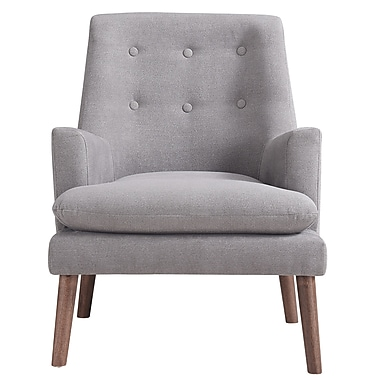 !nspire Mid Century Accent Chair, Grey (403-100GY)