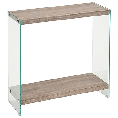 WHI 2 Tier Console Glass/Faux Reclaimed (502-204RCL)