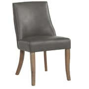 !nspire Faux Leather Accent Chair, Grey, Set of 2, 2/Pack (202-471PU-GY)