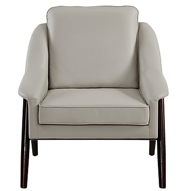 !nspire Bonded Leather Accent Chair, Grey (403-177GY)