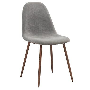 WHI – Chaise d'appoint milieu de siècle, gris, 4/paquet (202-250GY)