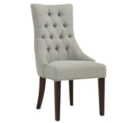 !nspire Tufted Accent Chair in Grey with Coffee leg (403-369CF)